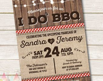 I do BBQ invitation. Rustic wood gold glitter griller by CrazyLime