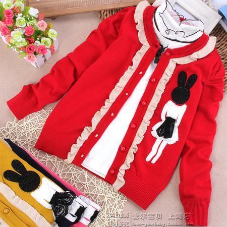 Корейские девушки кофты вне свитер пальто хлопка кардиган детей не мяч одной женщины сокровище свитер  — 847.41р.