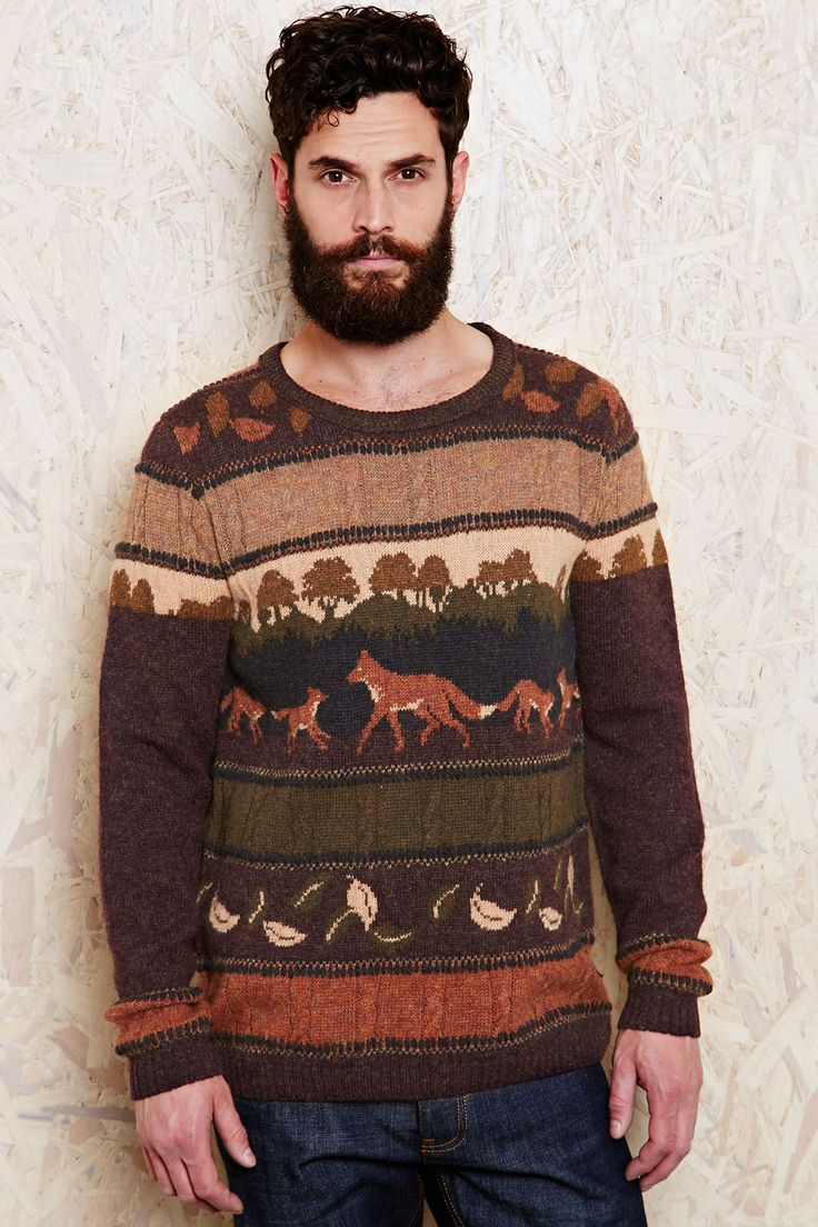 Fox sweater Mens style Pinterest Sweater patterns, Thanksgiving an...