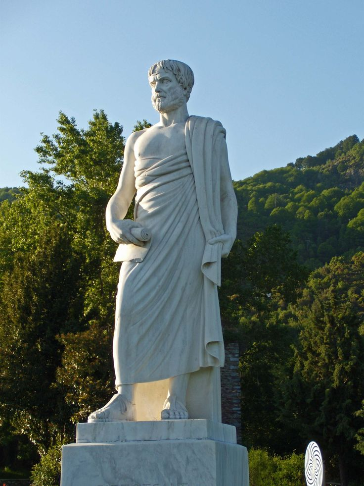 Aristotle, modern statue in the park of Stagira, Greece