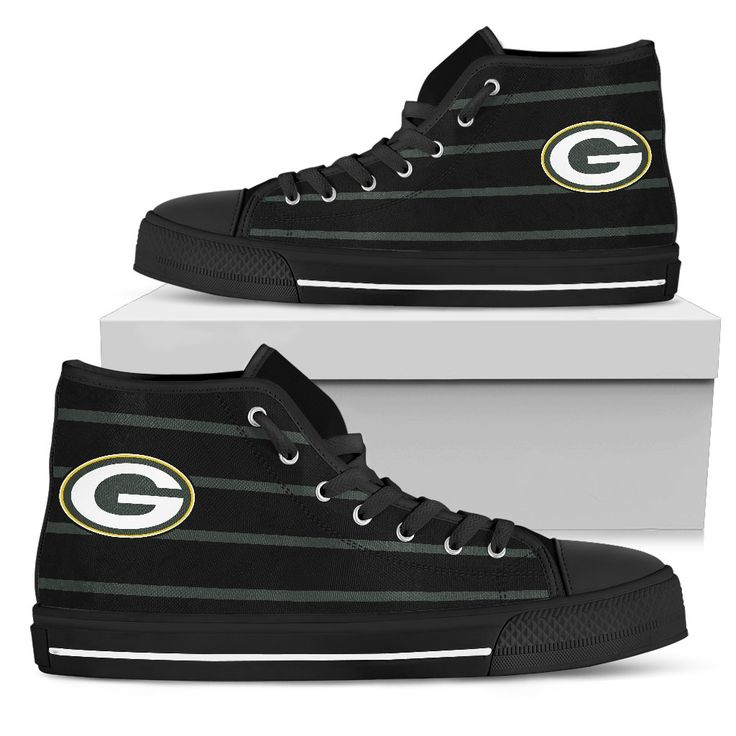 Edge Straight Perfect Circle Green Bay Packers High Top Shoes – Best Funny Store