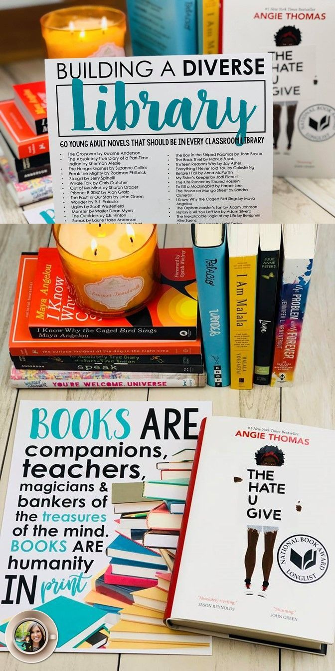 FREE resource for building a diverse classroom library | Young adult literature | Books for teens | Free classroom poster | Classroom library | Books for middle and high school