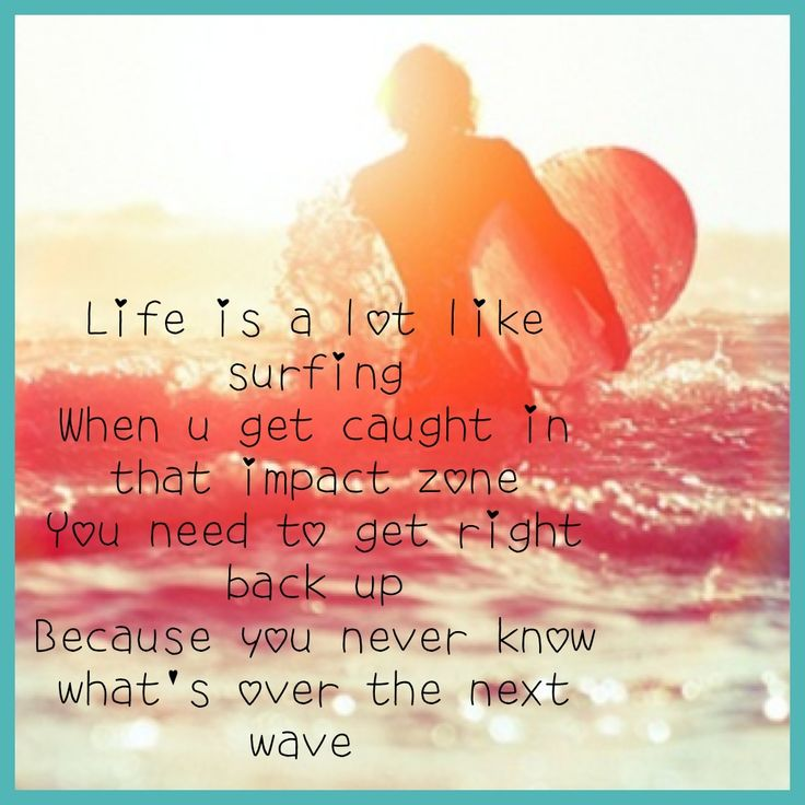 This is a quote from Bethany Hamilton : )