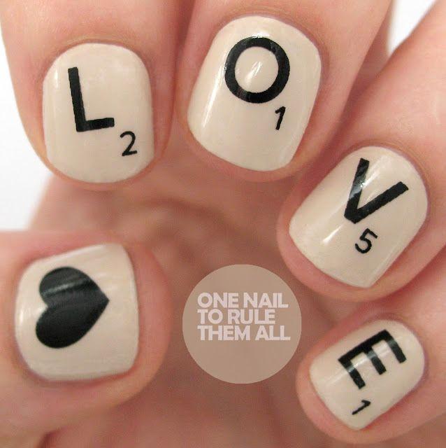 Scrabble nails!