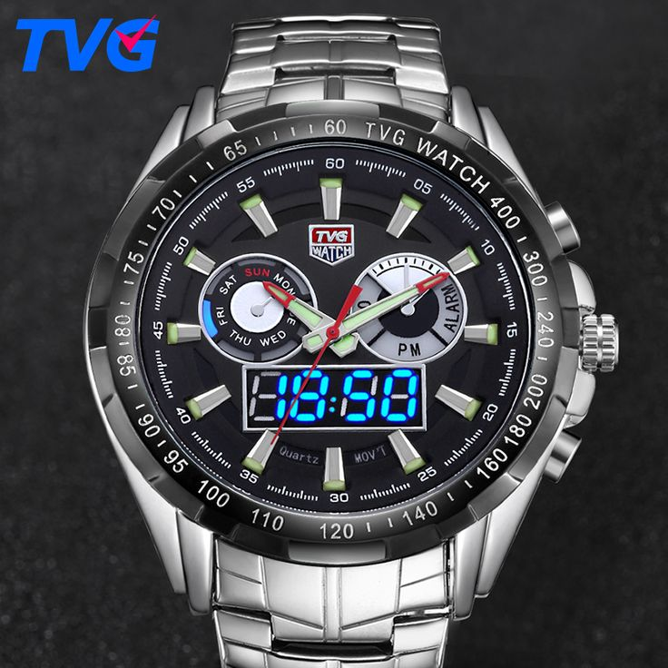 ==> [Free Shipping] Buy Best TVG Luxury Brand Watch Men Digital Quartz Sports Army Military Watches LED Clock Men Waterproof Wrist Watch Relogio Masculino Online with LOWEST Price | 32692320391