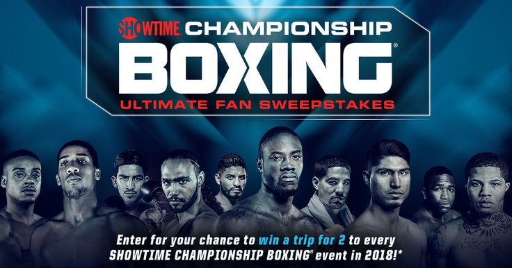 Enter for your chance to win a trip for 2 to every SHOWTIME Championship Boxing event in 2018!