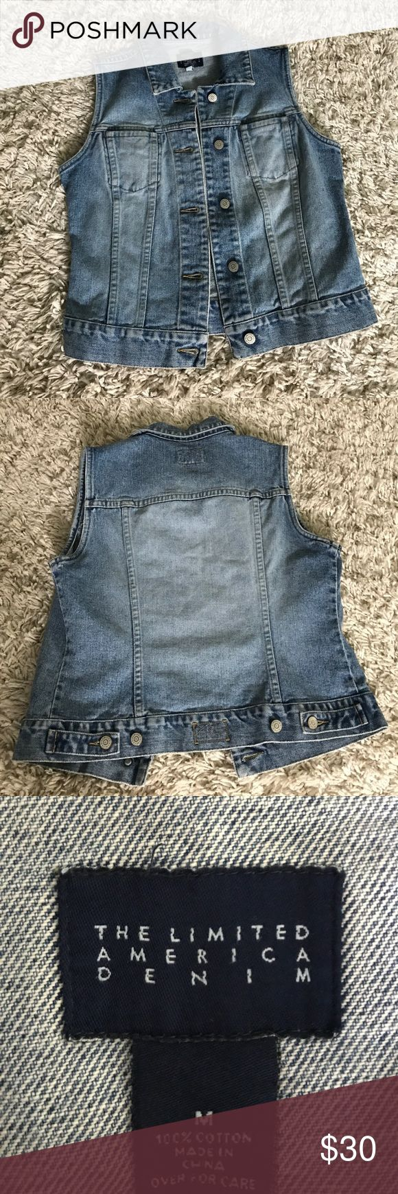 Sleeveless Denim Jacket Perfect for festivals and concerts this summer! Vintage From The Limited. Excellent condition! Size Medium. From a smoke free home!! The Limited Jackets & Coats Jean Jackets
