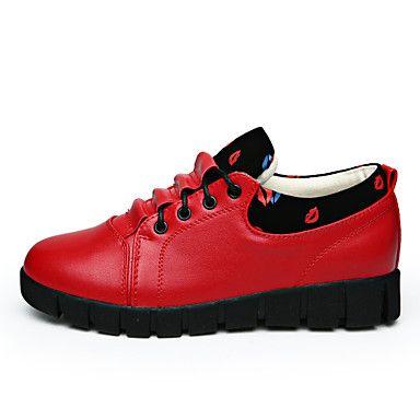 ... Air Chaussures Femme Similicuir Talon Plat Confort/Bout Arrondi Baskets  à la Mode Bureau & Travail ...