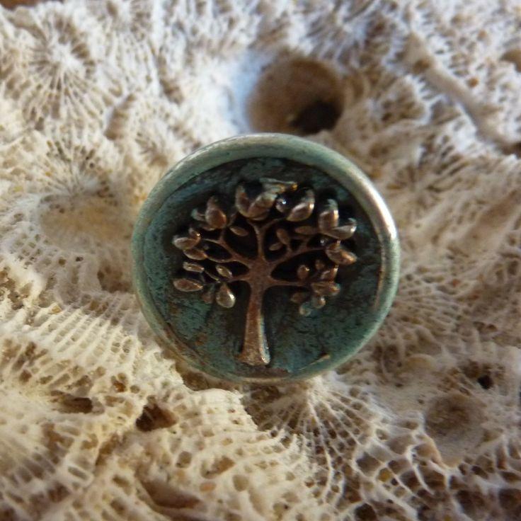 Tree Of Life Ring - handmade crystal energy gemstone jewellery Earth Jewel Creations Australia