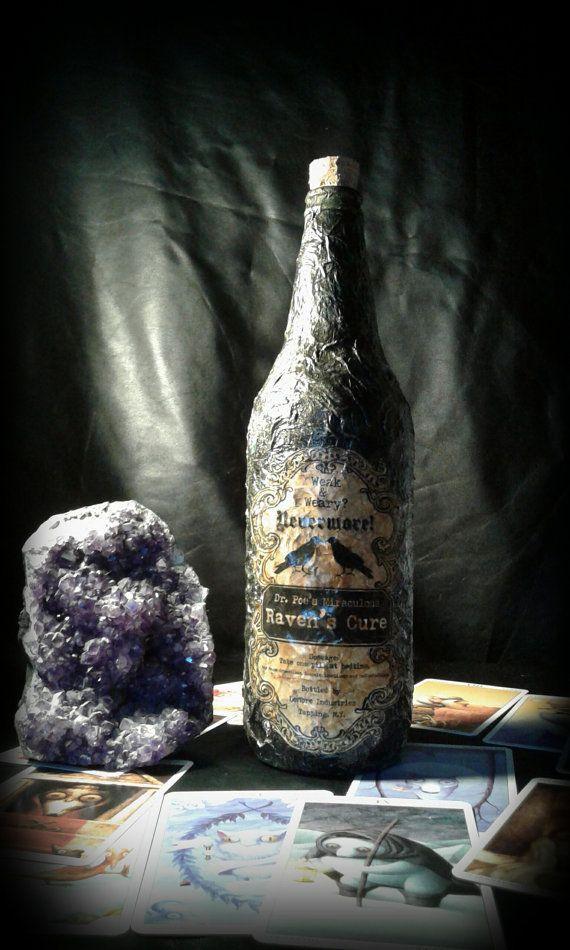 Guarda questo articolo nel mio negozio Etsy https://www.etsy.com/it/listing/455360742/ravens-cure-bottle-handmade