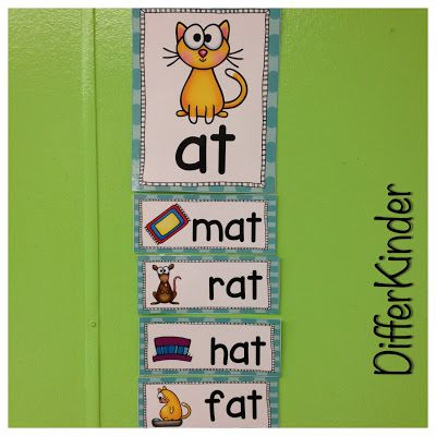 A Differentiated Kindergarten: Ideas for systematic teaching of word families