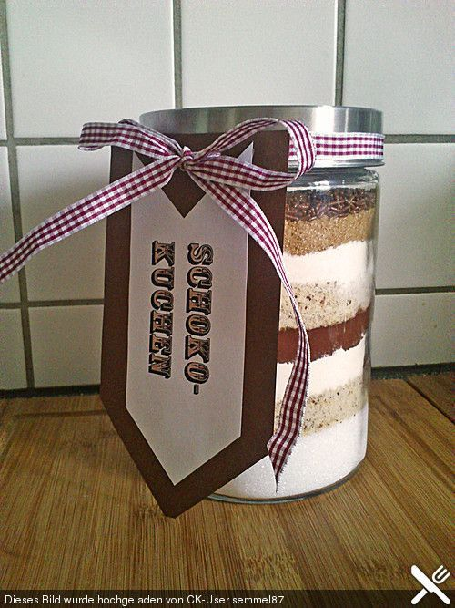 Backmischung im Glas, ein gutes Rezept in der Kategorie Kuchen. Bewertungen: 42 …   – Geschenke aus der Küche