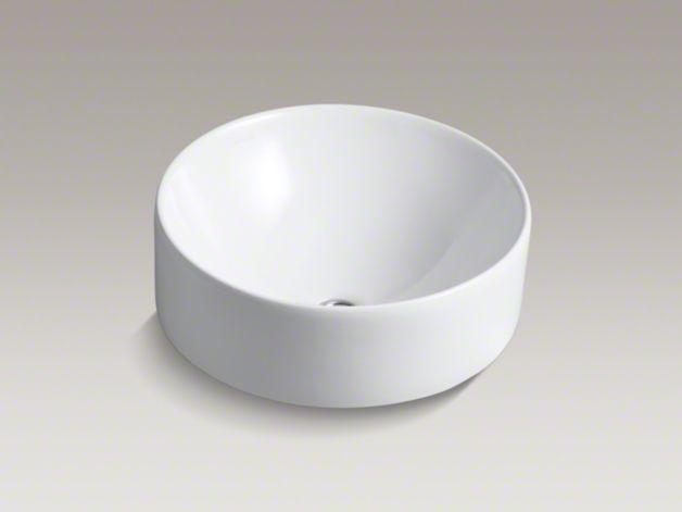 Kohler Vox Sink : KOHLER K-14800 Vox Round Vessel Sink - Dimensions Height 8