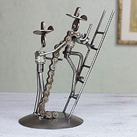 Recycled metal sculpture, 'Firefighters at Work' from @NOVICA, They help #artisans succeed worldwide. By Armando Ramírez