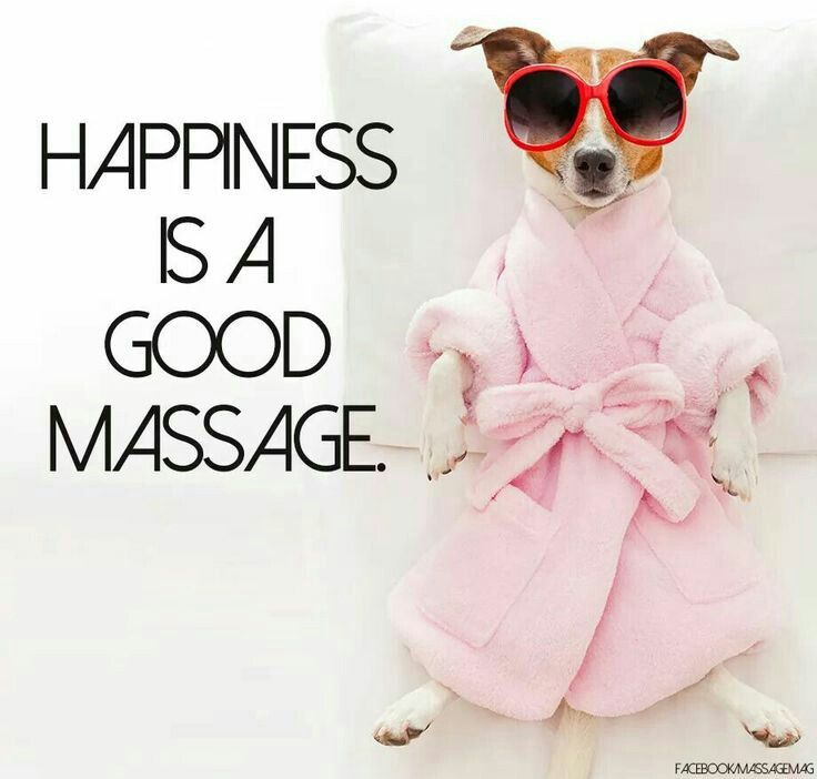 It time for a massage