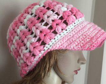 Crochet el sombrero de vendedor de periódicos, vendedor de periódicos suave sombrero