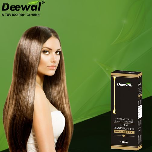 Deewal Antibacterial Neem Anti Dandruff Oil stop dandruff by defeating microbial infections of the scalp. For more information about this product , please call us at +91-11-26169906 or visit online.