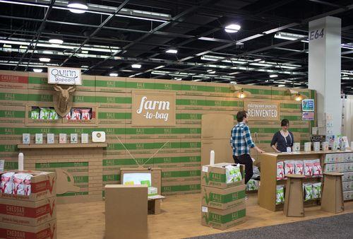 WOW!!! Quinn Popcorn: A Cardboard Trade Show Booth via @The Dieline