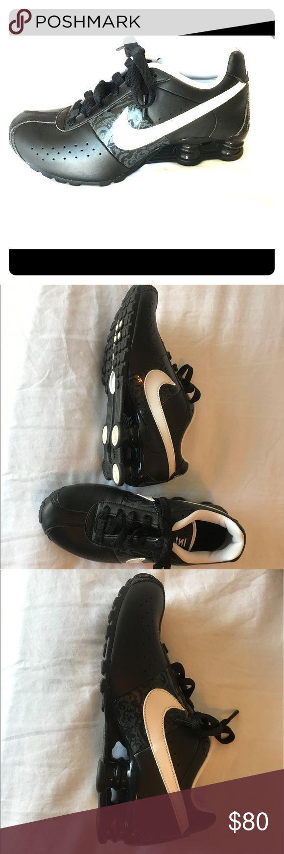 Nike Shocks Black & white Nike shocks Nike Shoes Athletic Shoes