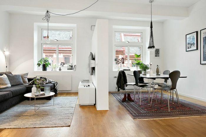 Wohnzimmer Skandinavisch Einrichten 22 Ideen Fur: Gardinen ...