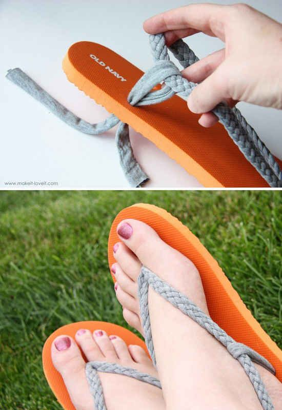 Salvage ripped flip-flops by making a more comfortable version.