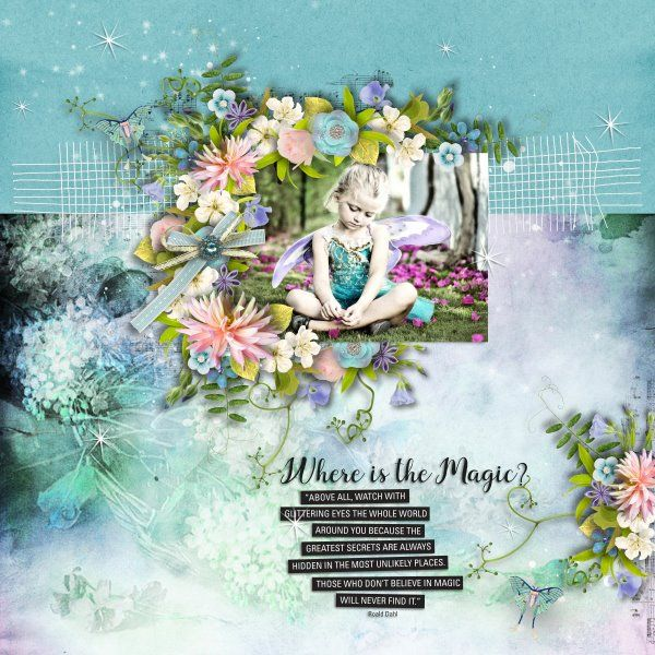 Template Arty Inspiration #12 by Heartstrings Scrap Art. Kit Believe In Magic by Heartstrings Scrap Art FWP for DSD when customers spend $15 at Heartstrings Scrap Art. Photo per kind favour of Marta Everest Photography.