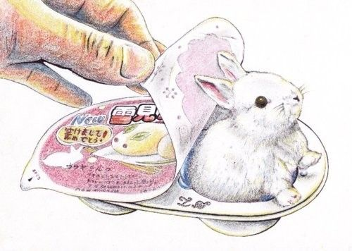 : Bunnies Bonanza, Fun Recipes, Animalsmor Illustrations, Bunnies Art, Bunnies Rules, Rabbit Treats, Art Inspiration, Bunnies Kawaii, Bunnies Candy
