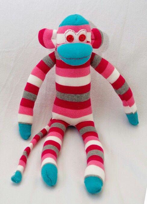 Sok aap ( gemaakt van 1 paar sokken)