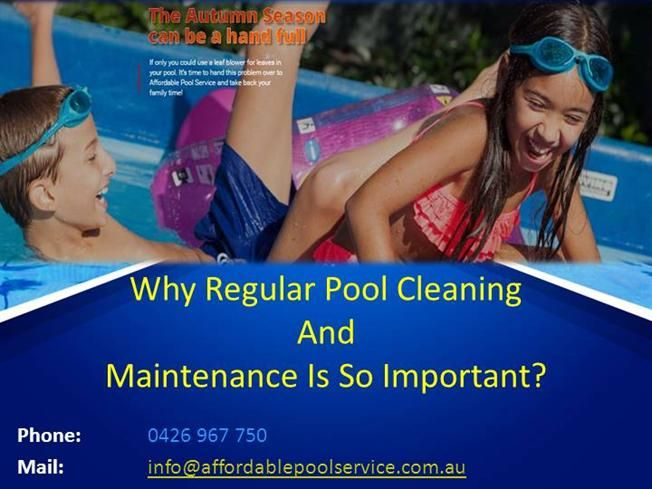 Regular pool cleaning and maintenance is an essential part of a pool-owner's regime. Read certain reasons which determine its importance and follow the needful.- authorSTREAM Presentation
