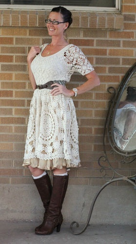NWT~Anthropologie~Hand-Crocheted Mini Dress~Knitted & Knotted #anthropologie #crochet #knittedknotted