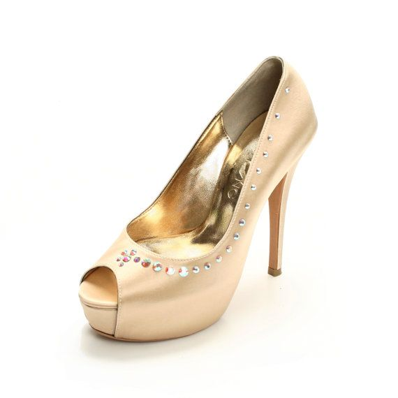 Champagne Wedding Shoe Champagne Bridal Shoe by ChristyNgShoes, $190.00