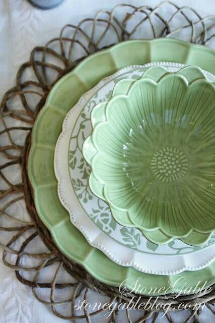 Dishware...  This is just so pretty.  Love it..  I wonder if they have it in other colors