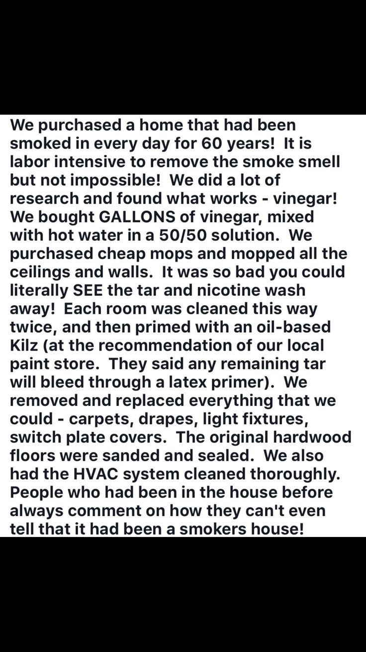 How to get smoke smell out of the house.