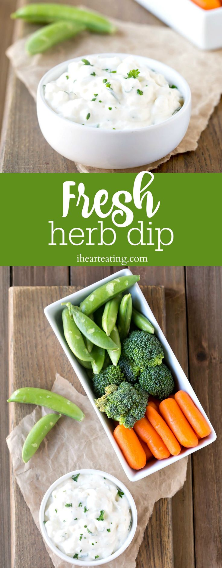 Fresh Herb Dip - easy, healthy snack recipe. Great for lunch with fresh vegetables!