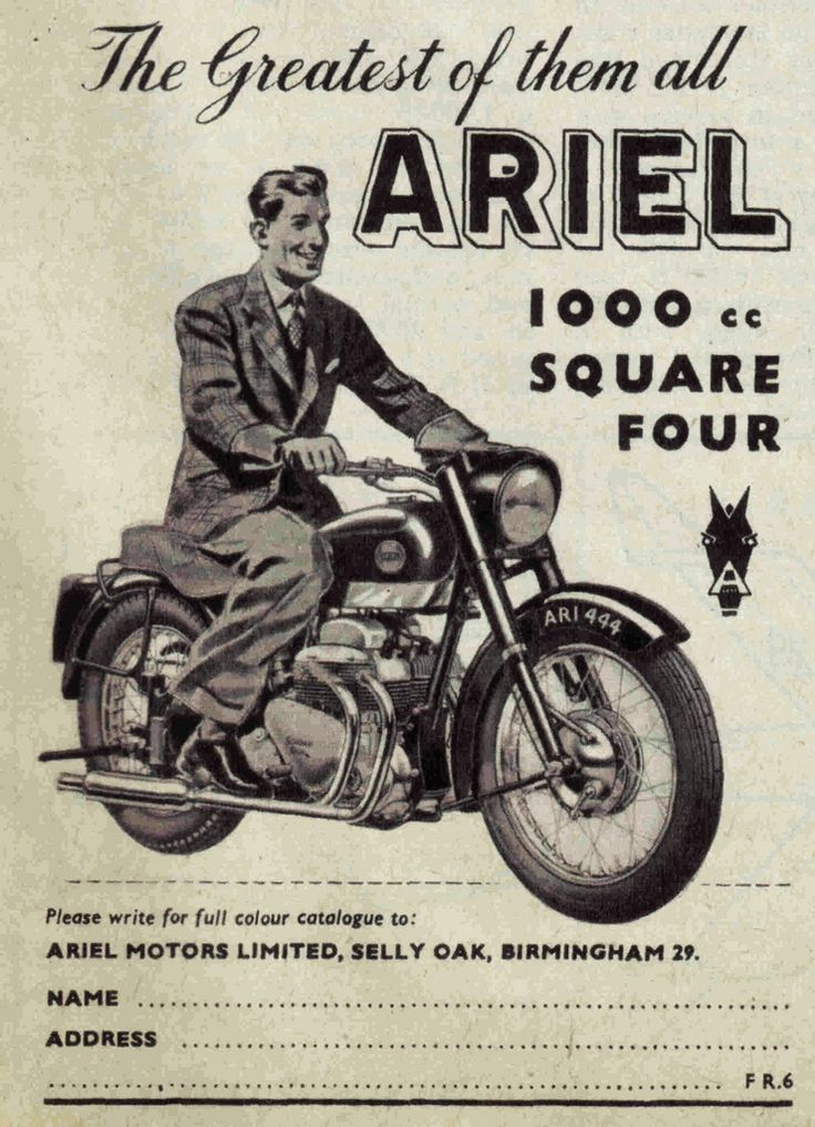 Ariel Motorcycle Posters Signs Amp Illustrations