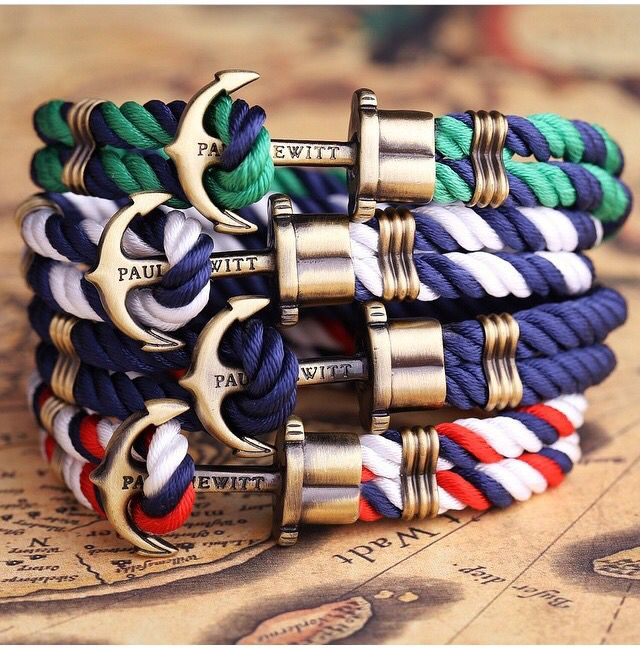 Paul Hewitt anchor bracelets, special elegant jewels for men made in Germany…