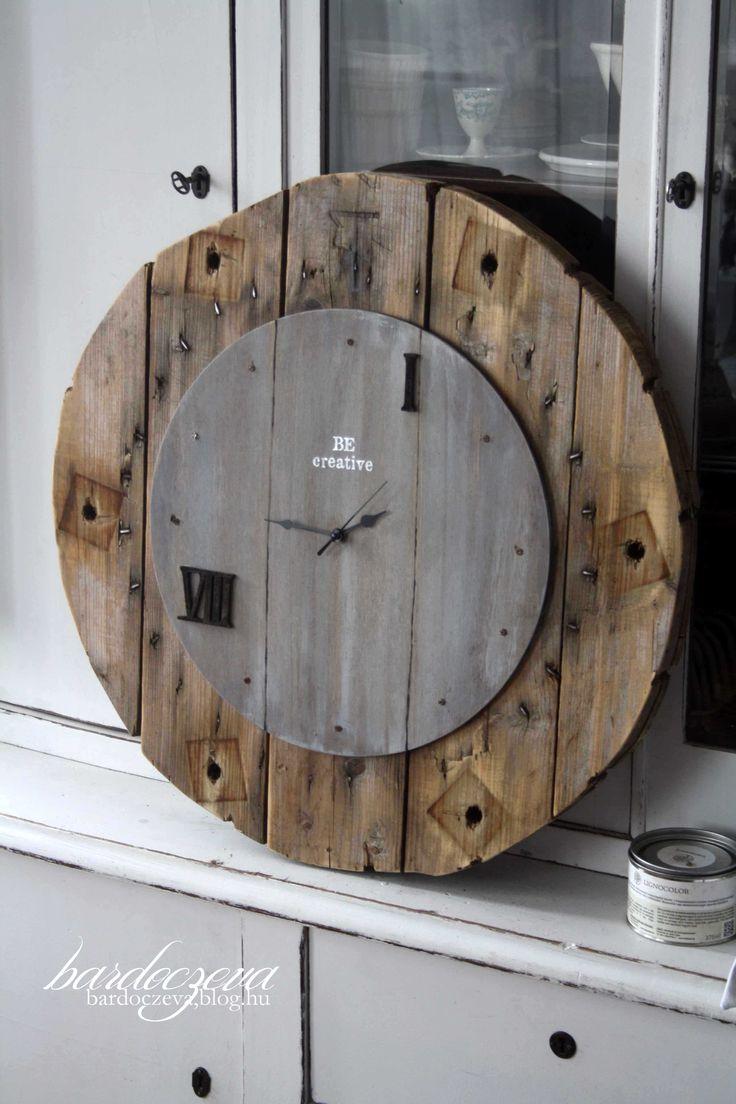 updecycled wall clock - PURE DESIGN by bardoczeva  #pentart #pentacolor #hungary