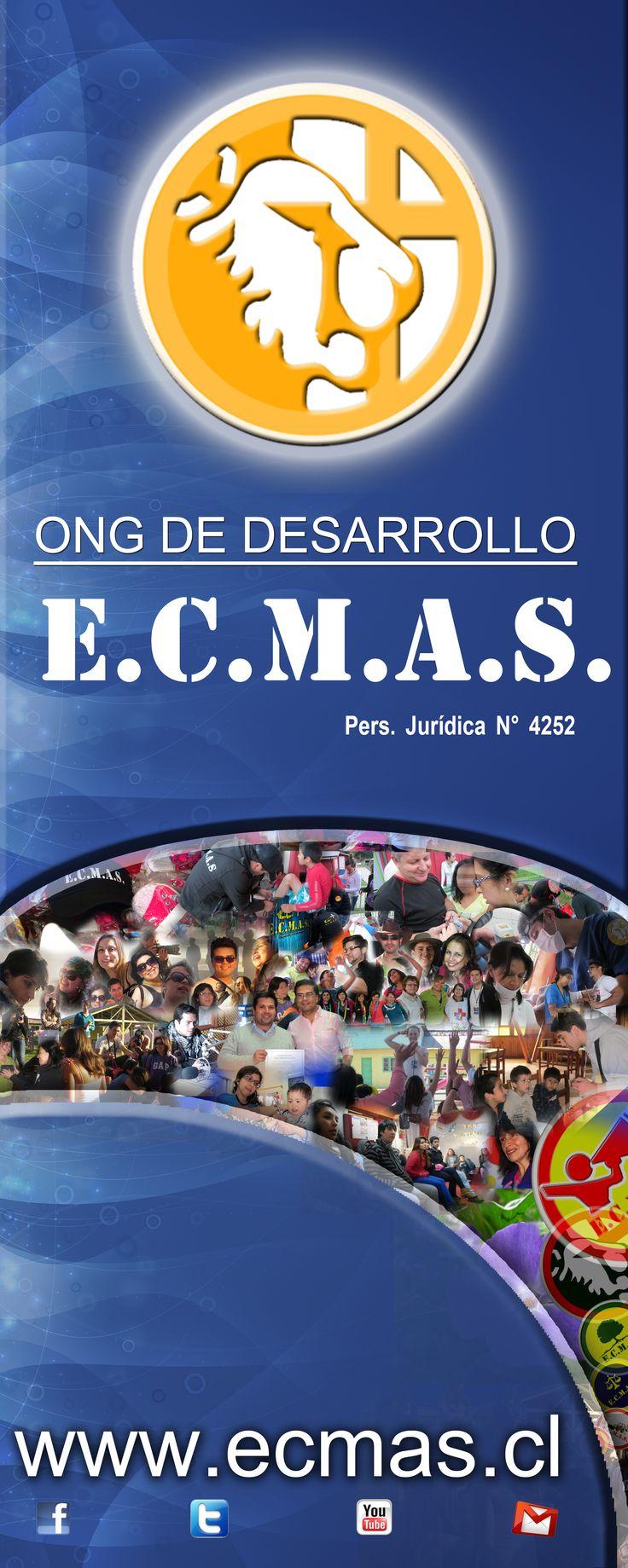 Hola a Todos.... Somos ECMAS, Equipo Cristiano Multidisciplinario de Ayuda Social, que es la definición de nuestra sigla... una ONG Chilena, filantrópica, dedicada a promover al desarrollo de las comunidades que corren en desventaja social, económica y espiritual.  Nos puedes contactar al mail: ong.ecmas@gmail.com y en Chile a los teléfonos +5686062203 y +56229854541 u obtener información en www.ecmas.cl