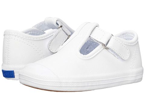 Keds Kids Champion Toe Cap T-Strap 2 (Infant/Toddler) White Leather - Zappos.com Free Shipping BOTH Ways