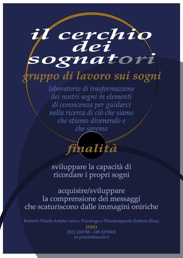 «Il cerchio dei sognatori» poster-locandina comunicazione evento: laboratorio di ricerca personale