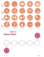 picture chore chart nonreader orange thumb