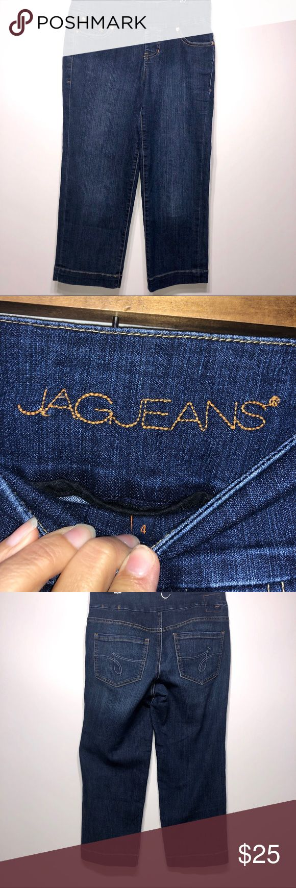 Jag Jeans Cropped Stretch Tummy Control Size 4 Jag…