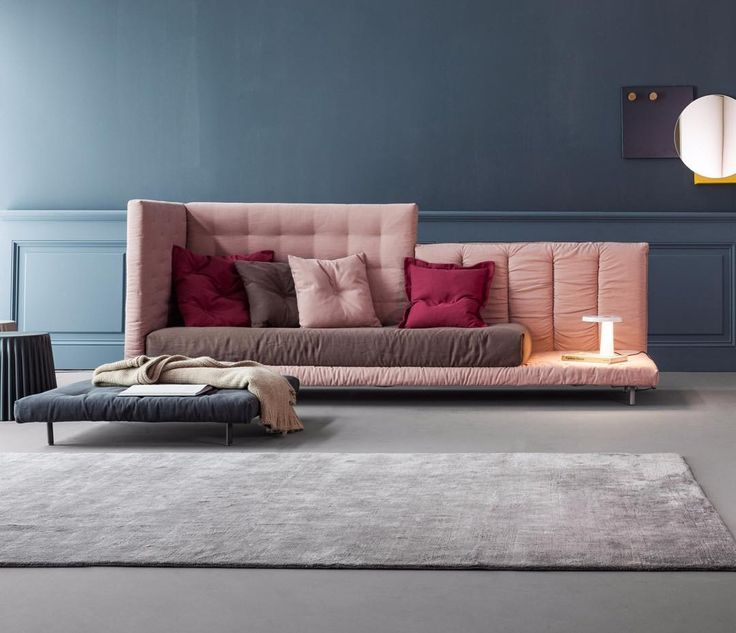 Designed by Giuseppe Viganò for @bonaldospa  ALVAR this beautiful sofa bed thanks to its combination of padded platforms it's devised to create the headboard the bed surround and the footboard choosing from various shapes and compositions.  Find more on Archiproducts.com _ #archiproducts