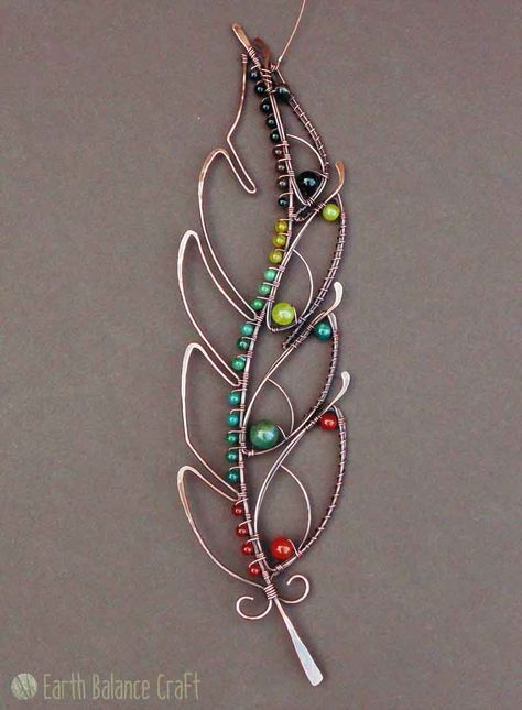 Feathery Delights - Hand-made copper wire work feather designs
