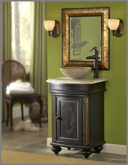 Superieur Kaco Arlington Square Single Bathroom Vanity In Ebony With Optional Sinks