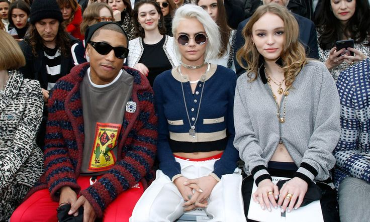 Pharrell, Cara Delevingne and Lily-Rose Depp took flight during Chanel's space-themed show.