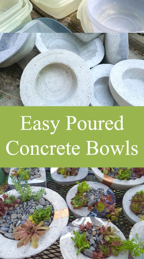 <p>Lately this wonderful weather has meant more outdoor projects! You know concrete is one of my favourite mediums, and with the abundance of my garden lately, it just made sense to create some awesome bowls! Ok, I'll admit, I hate