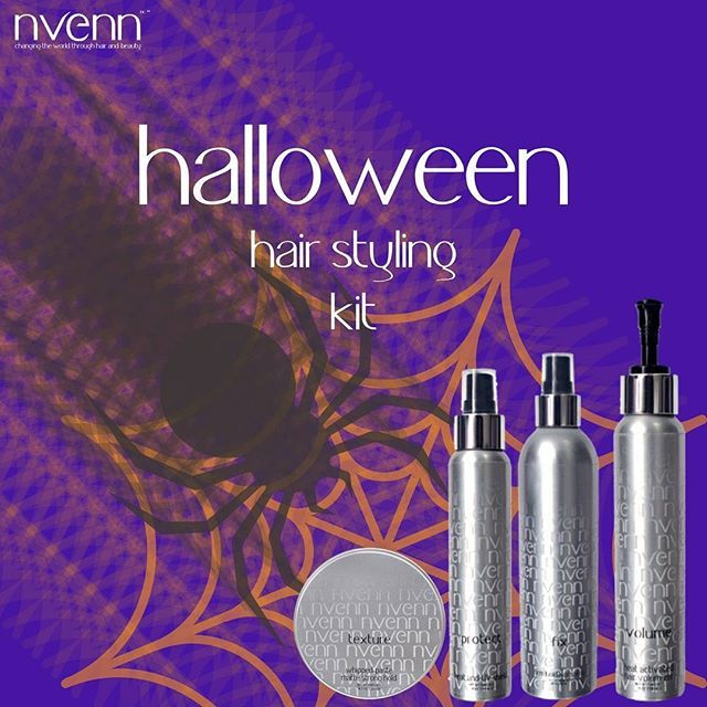 Say R.I.P. to MEDIOCHRE hair this October with nvenn's HALLOWEEN STYLING KIT. from scary franken-bride waves to sexy vamptress blowouts, this kit has everything you need to create the perfect style to last all halloween day and night!    sink your fangs in to the savings! https://goo.gl/2UDFYJ to save 25%   #nvenn #halloween #style #kit #halloweenhair #halloweenstylekit #yeghair #yychair #bbloggers #salonpro