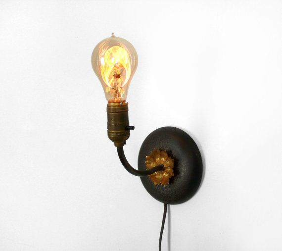 Antique Wood Wall Sconce