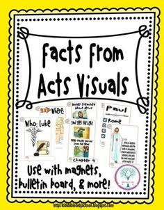 Facts From Acts: Basic review of the Book of Acts with lesson plan #Biblefun